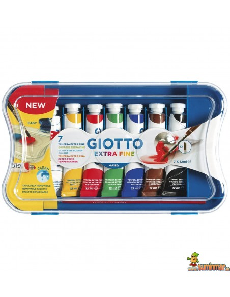 Estuche Témperas Giotto 12 ml