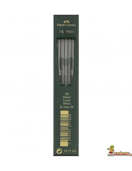 Minas 2mm Faber-Castell 10ud Varias graduaciones