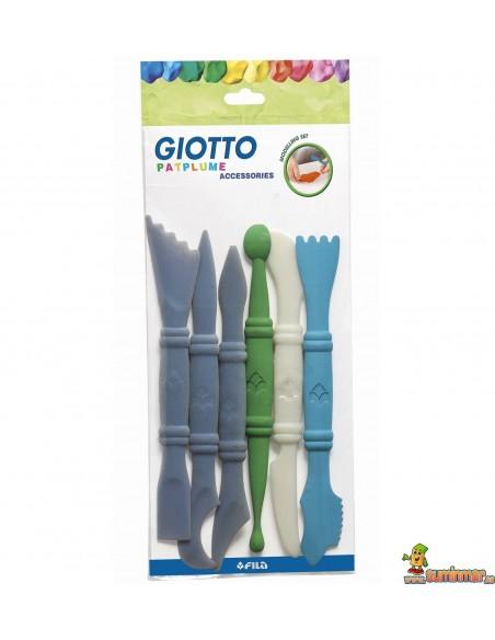 Accesorios Giotto para modelar plastilina 6 piezas