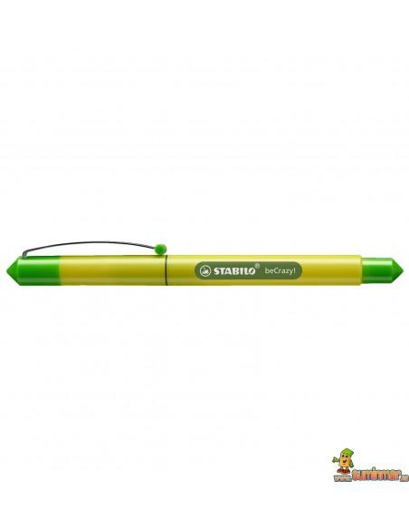 Pluma Stabilo beCrazy! - Duocolors verde lima