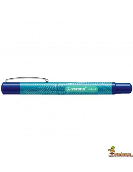 Pluma Stabilo beFab! - Calligraphy Digital Turquesa lineado