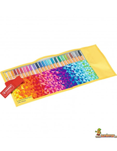 Stabilo Point 88 Rollerset 25 colores Fan Edition