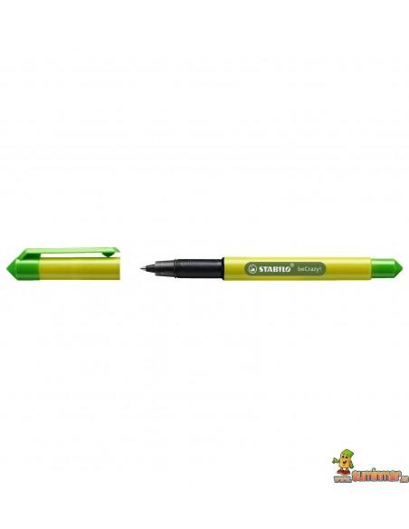 Roller Stabilo beCrazy! - Duocolors Verde Lima