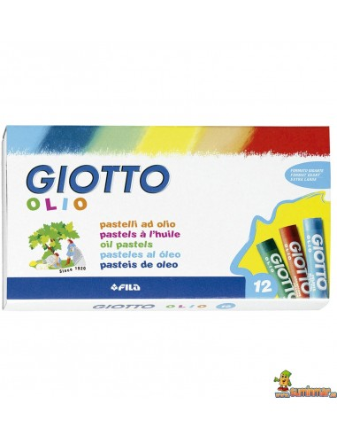 Ceras Giotto Olio. Pasteles al óleo 12 unidades