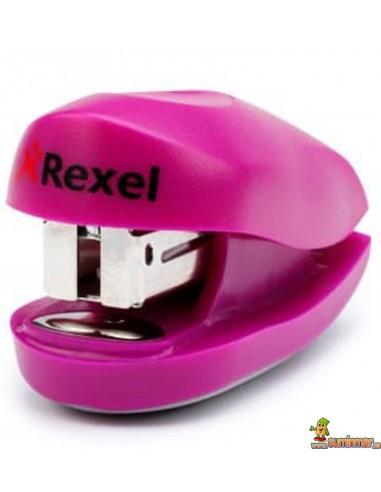 Grapadora De Bolsillo Buddy Rexel rosa