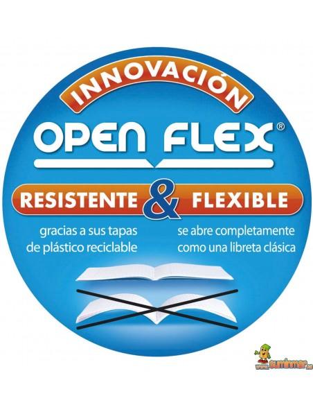 Libreta Oxford 90 x 140mm Encolada Open Flex Cuadros 5mm