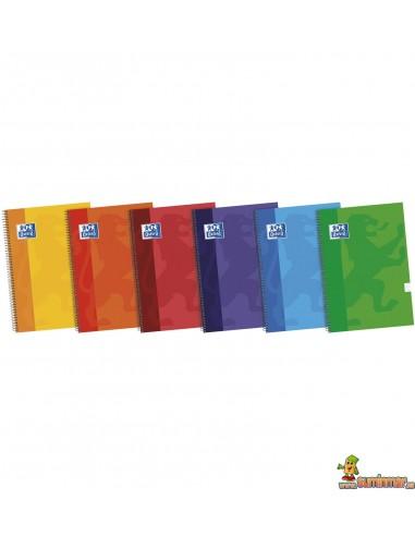 Cuaderno Oxford Tapa dura. Tamaño Folio. Cuadros 4mm
