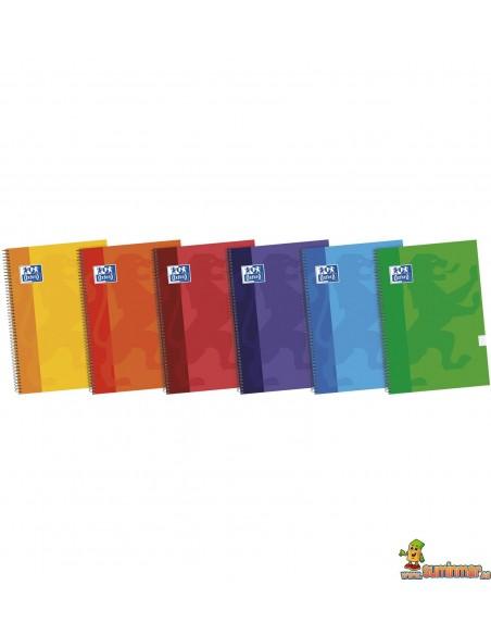 Cuaderno Oxford Tapa dura Tamaño 4º Cuadros 4mm