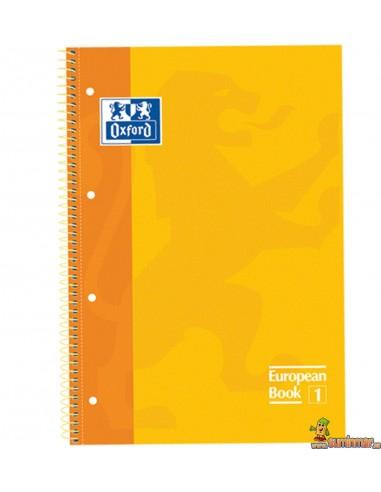 Cuaderno Oxford A4 Tapa dura. Cuadros 5mm European Book 1