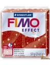 FIMO Effect 57g Pasta para modelar 8020-202 Rojo con purpurina