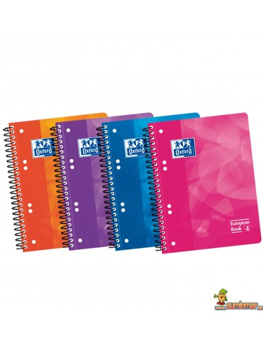 Cuaderno Oxford A5 Tapa de plástico Cuadros 5mm European Book 4
