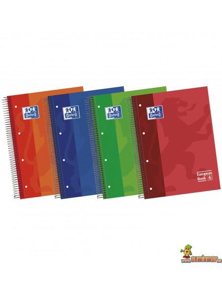 Cuaderno Oxford A4 Tapa dura. Cuadros 5mm European Book 5