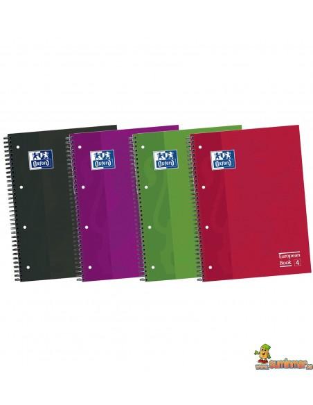Cuaderno Oxford A4 Tapa dura. Cuadros 5mm European Book 4