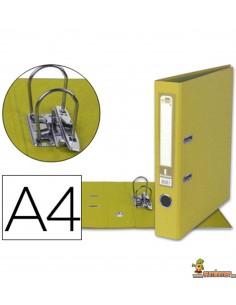 Archivador forrado DIN A4 lomo 52mm amarillo