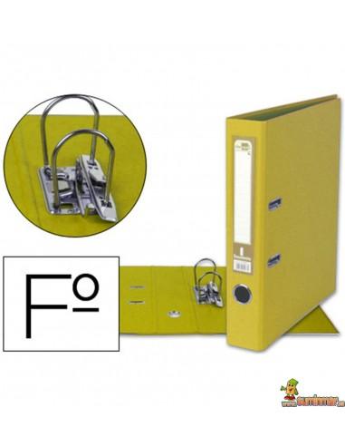 Archivador Tamaño Folio Lomo 52mm Amarillo