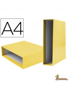 Caja para Archivador AZ DIN A4 Lomo 75mm Amarillo