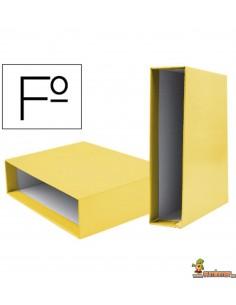 Caja para Archivador AZ Tamaño Folio Lomo 75mm Amarillo