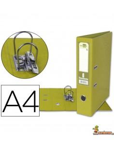 Archivador forrado DIN A4 lomo 72mm amarillo