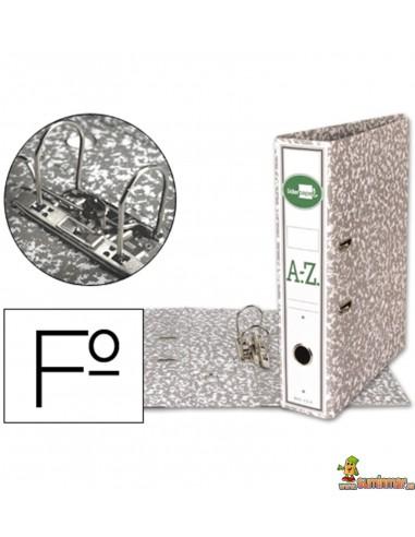 Archivador folio lomo 75mm gris
