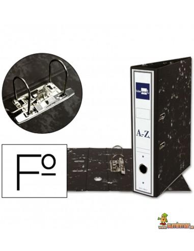 Archivador folio lomo 75mm negro