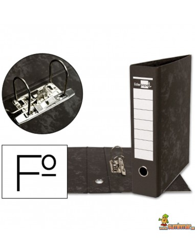 Archivador folio lomo 80mm negro