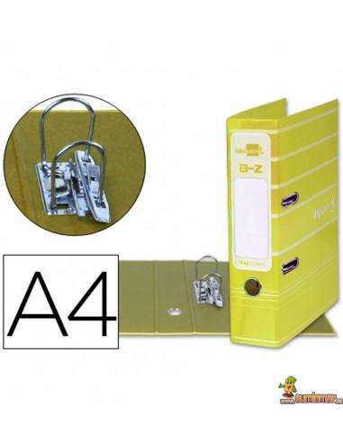 Archivador plastificado DIN A4 lomo 75mm amarillo