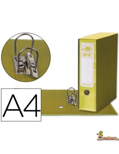 Archivador plastificado DIN A4 con caja lomo 75mm amarillo