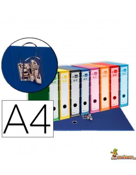 Archivador AZ DIN A4 con caja Lomo 80mm Varios colores