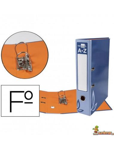 Archivador plastificado folio lomo 75mm azul