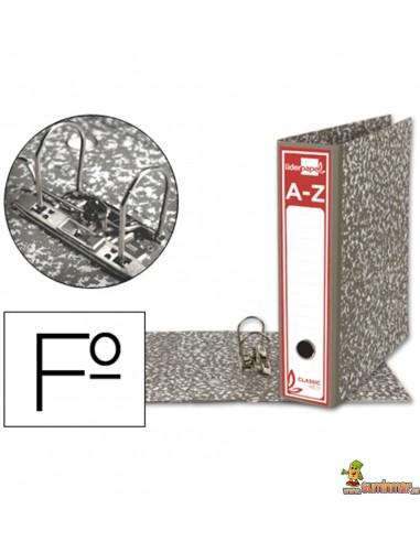 Archivador folio lomo 80mm gris clásico