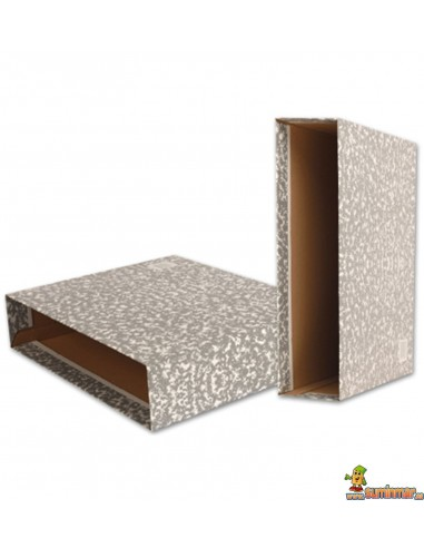 Caja para archivador folio color gris