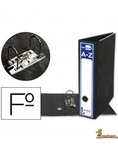 Archivador folio lomo 80mm negro clásico