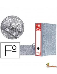 Archivador con caja folio lomo 80mm gris