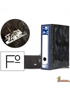 Archivador con caja folio lomo 80mm negro