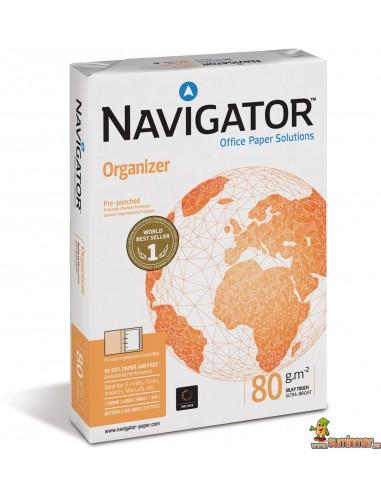 Navigator Organizer A4 80g 500 hojas 4 taladros