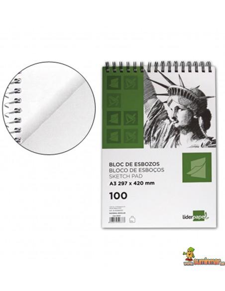 Bloc de Esbozo A3 90 g/m² 100 hojas