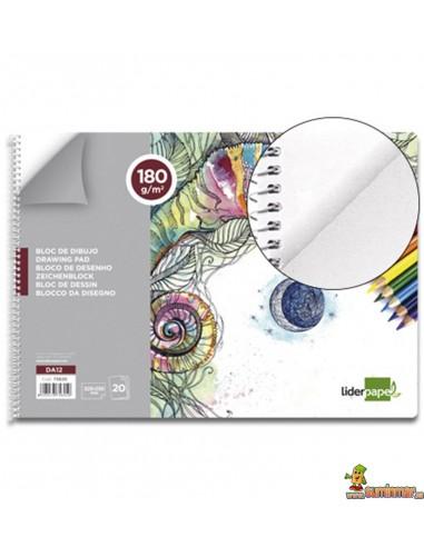 Bloc de dibujo Folio 180 g/m² 20 hojas
