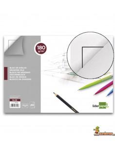 Bloc de dibujo encolado Folio 180 g/m² 20 hojas con recuadro