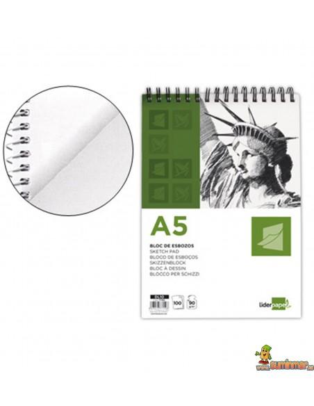 Bloc de Esbozo A5 90 g/m² 100 hojas