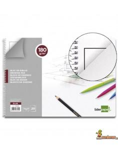 Bloc de dibujo Folio 180 g/m² 20 hojas Con recuadro