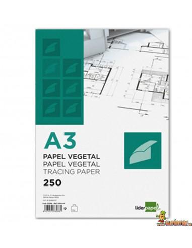 Papel Vegetal. A3. 90 g/m². Liderpapel