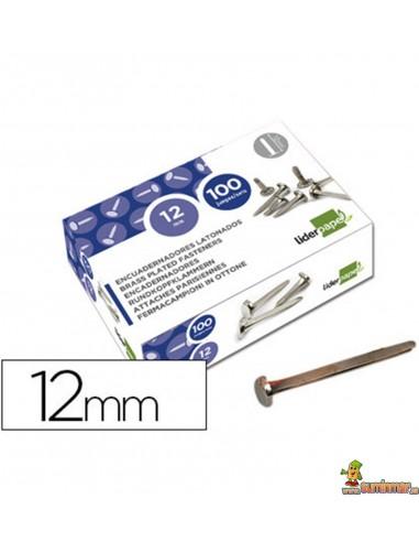 Encuadernador latonado cabeza redonda 12 mm