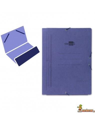 Carpeta de cartón tamaño folio con gomas elásticas, 1 solapa