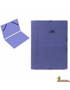 Carpeta de cartón tamaño folio con gomas elásticas, sin solapas