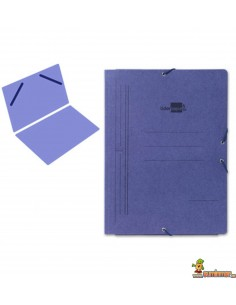 Carpeta de cartón DIN A5 con gomas elásticas