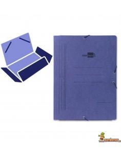 Carpeta de cartón DIN A5 con gomas elásticas, 3 solapas