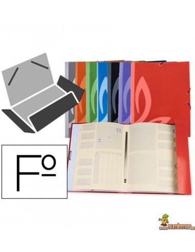 Carpeta Clasificadora Cartón Forrado. Folio. Liderpapel