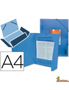 Carpeta de lomo flexible DIN A4 con gomas elásticas azul