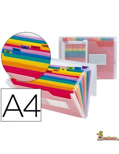 Carpeta Clasificadora de plástico DIN A4 con gomas