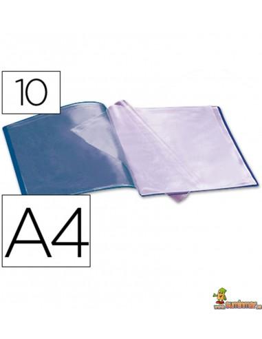 Carpeta escaparate DIN A4 10 fundas fijas